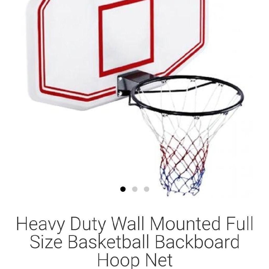 Basketball backboard and ney