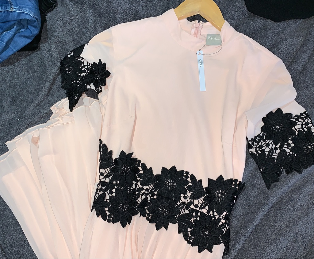 Brand new ASOS pink long dress