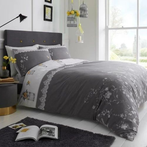 """Classic Lucy Grey """"Reversible"""" Duvet Cover"""