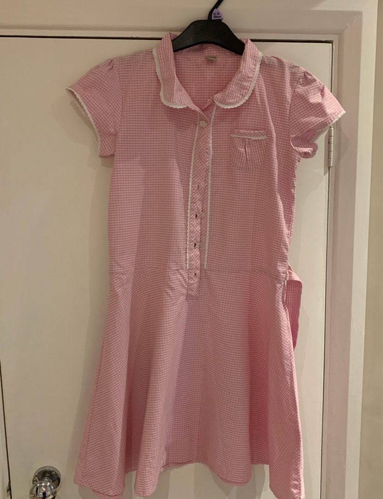 2 pink school dresses 12 years
