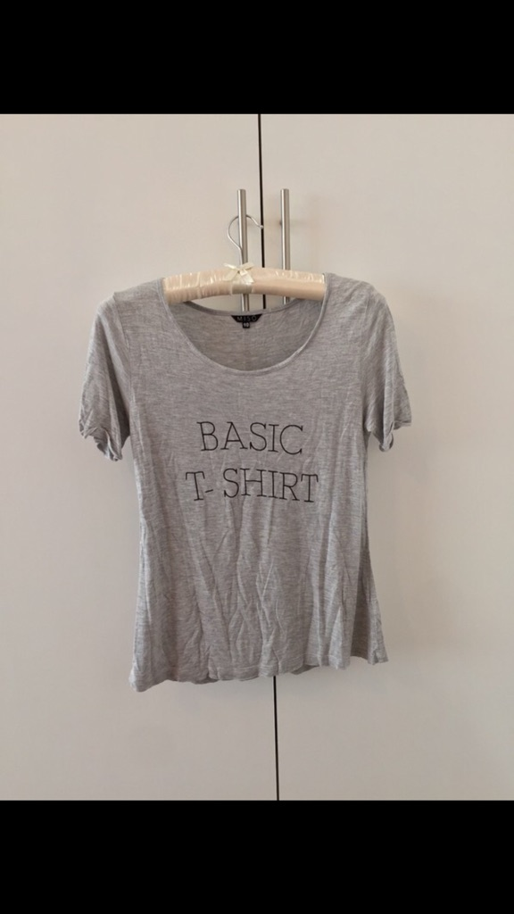 Grey Miso Basic Logo T Shirt UK10