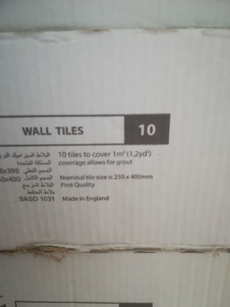 Ceramic wall tiles 250 mmx400m