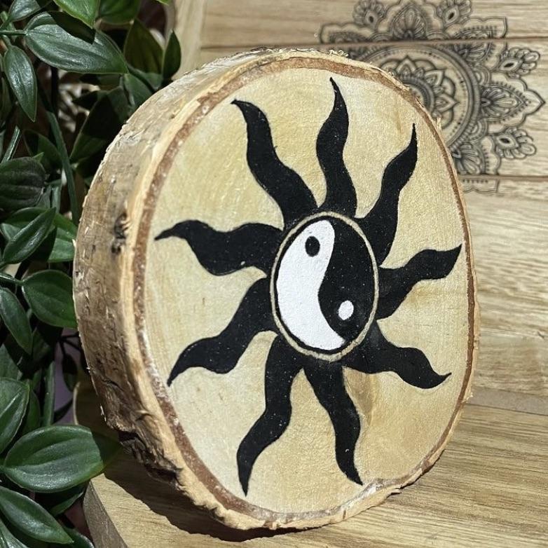 Yin & Yang wooden decoration