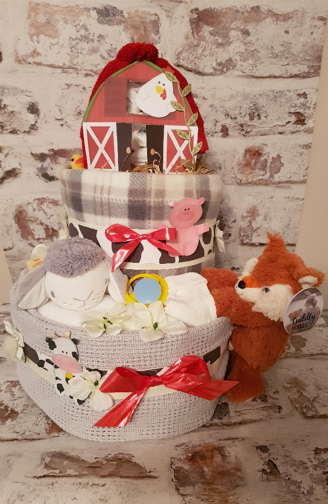 Farm theme nappy cake