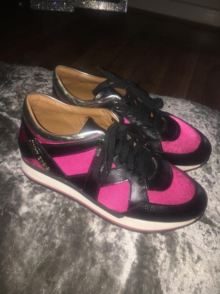 Pink jimmy choo trainers 4,5