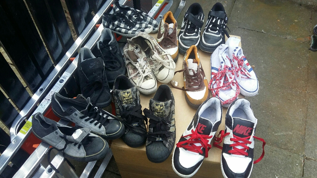 Men's bandles of used trainers sizes 10 & 10.5