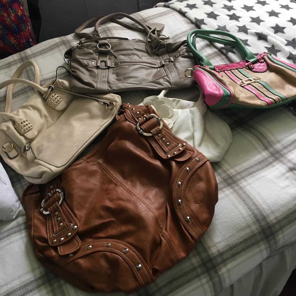 Various handbags £2 each buy all of them £8