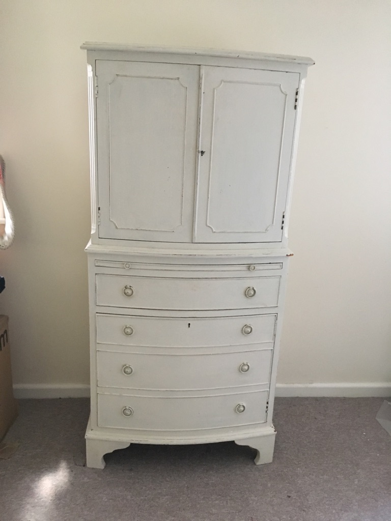 Antique painted drinks cabinet