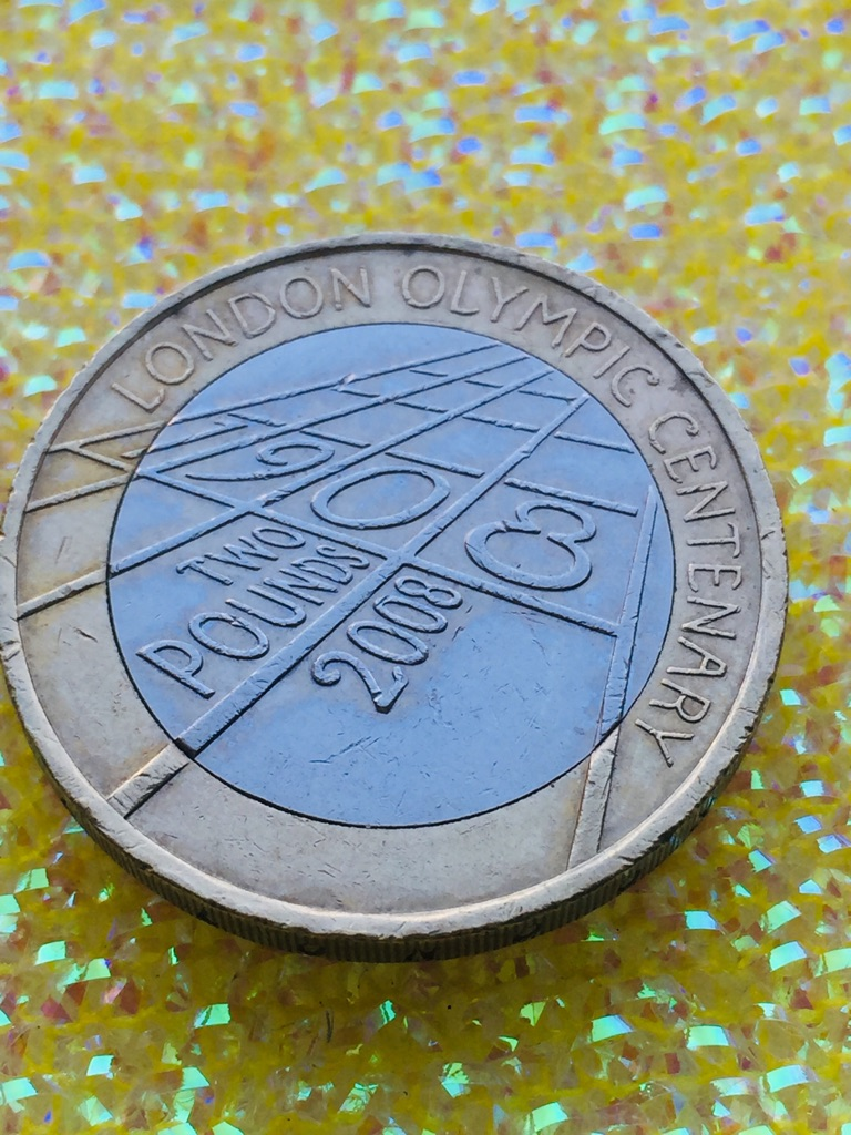 2 pound coin London Olympic Games 2008.