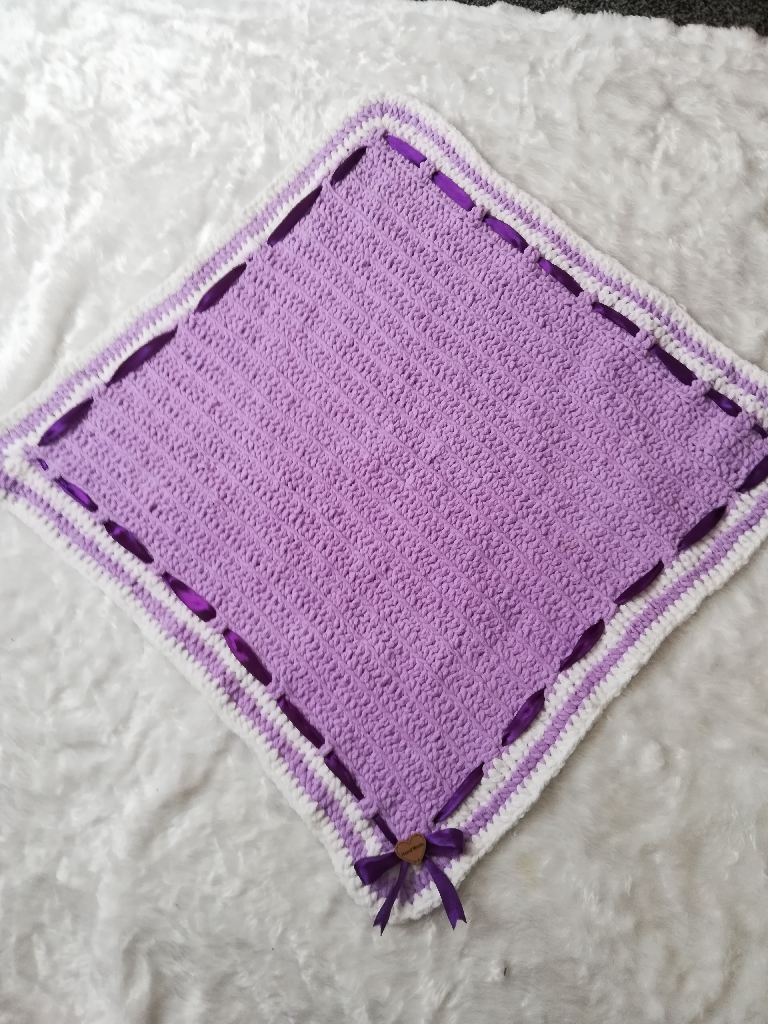 Hand made soft baby blanket