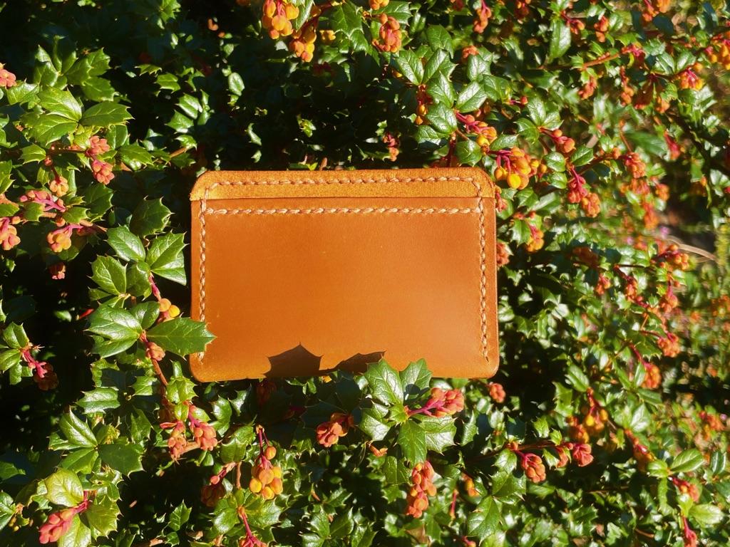 Leather cardholder handmade