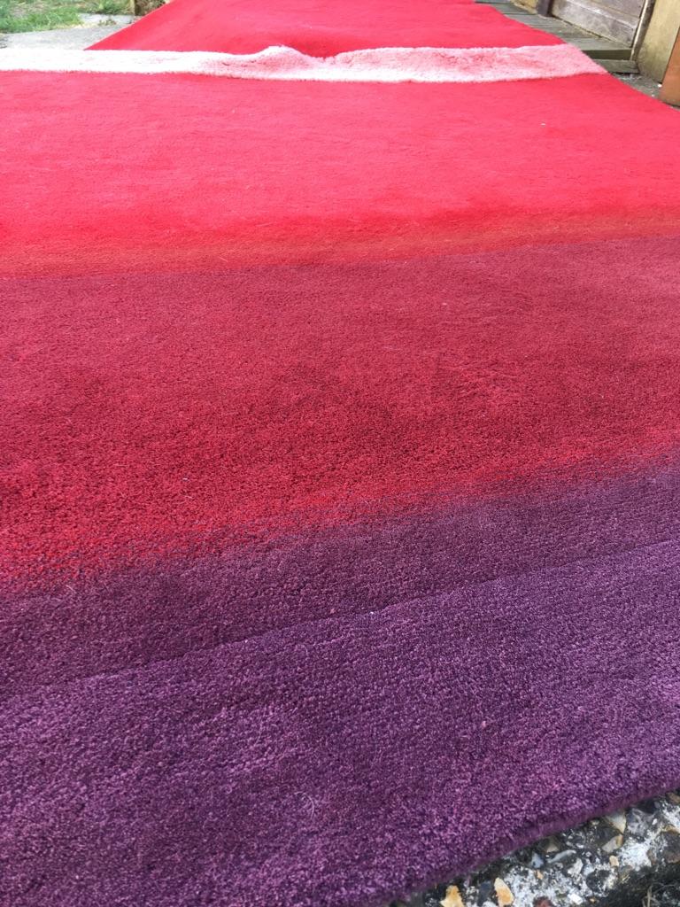 Habitat large red-purple two tone wool rug