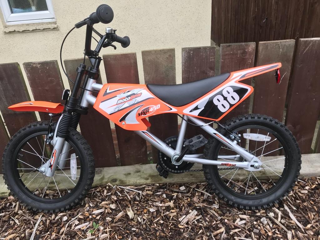 "Kids motorbike pedal bike 16"""