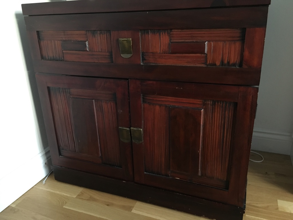 Mahogany finish sideboard