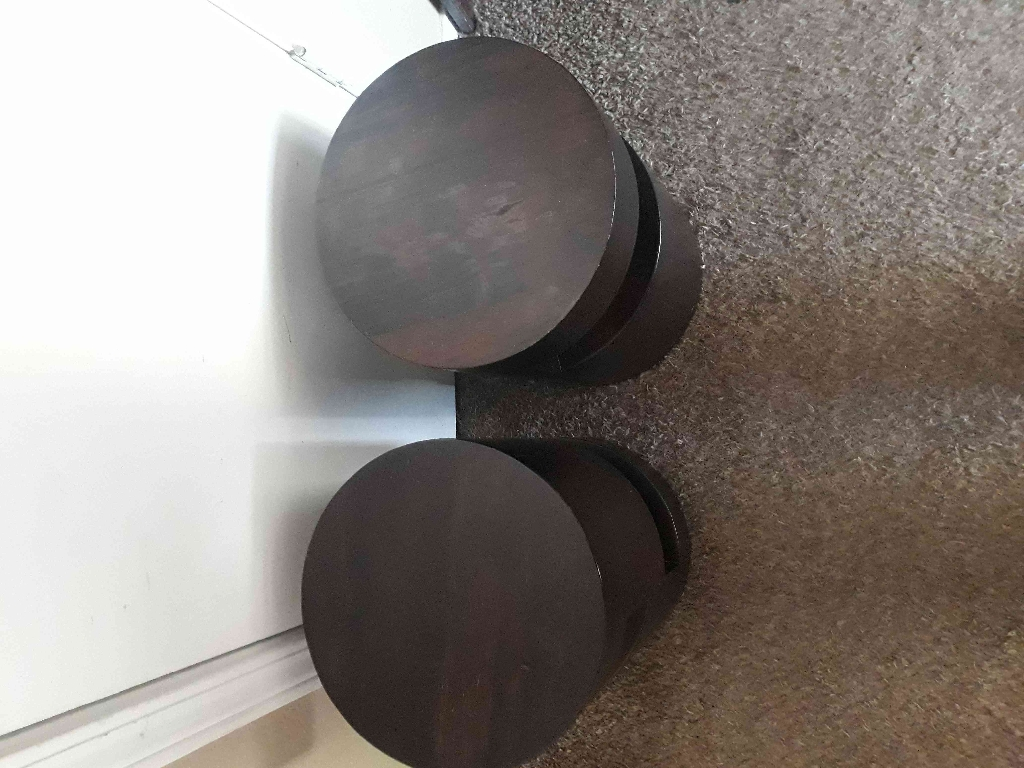 Set of Small Heavy Wooden Stands 18in