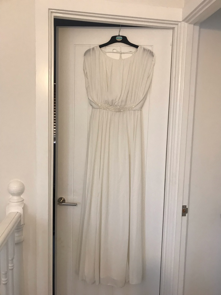 White size 8 evening gown