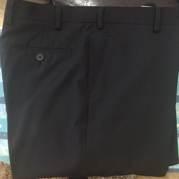 Jeff Banks black trousers (34S)