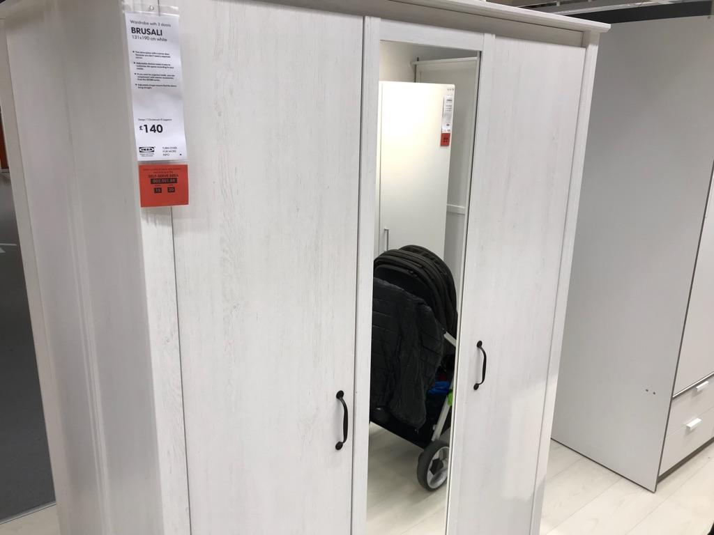 Ikea wardrobe 3 doors