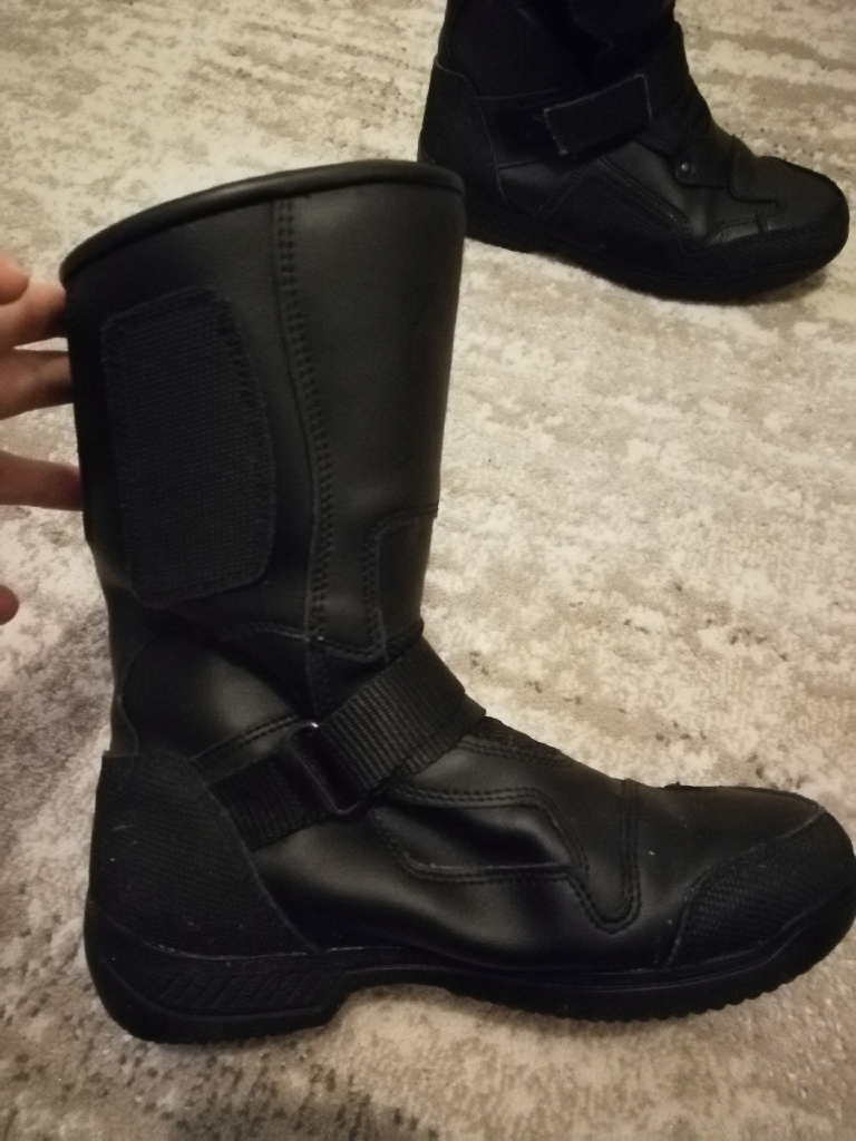 Womens motor bike boots and jacket