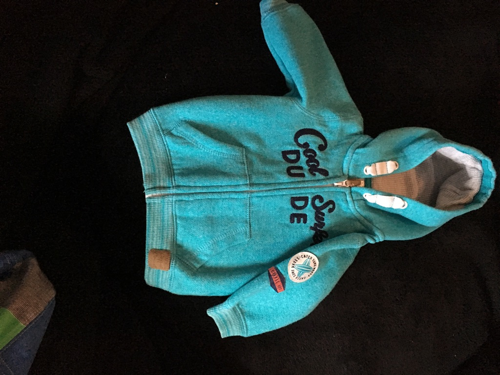 0-3 baby boys hooded jumper