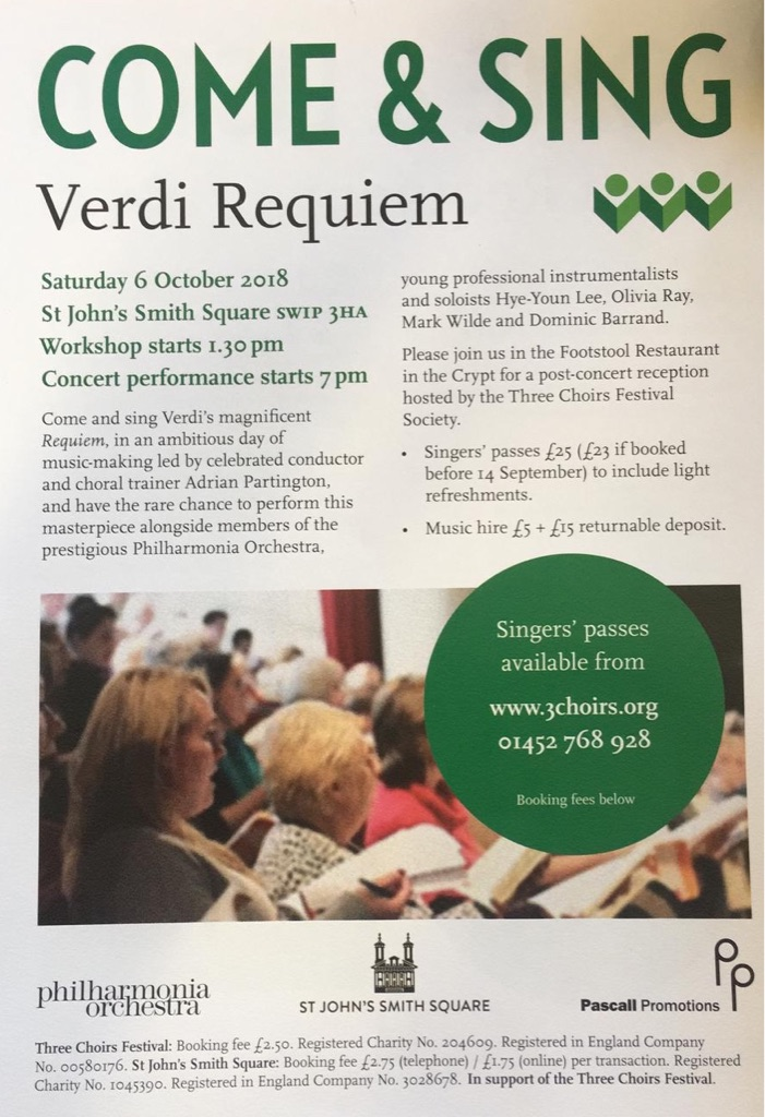 Free pass to sing at Verdi Requiem!