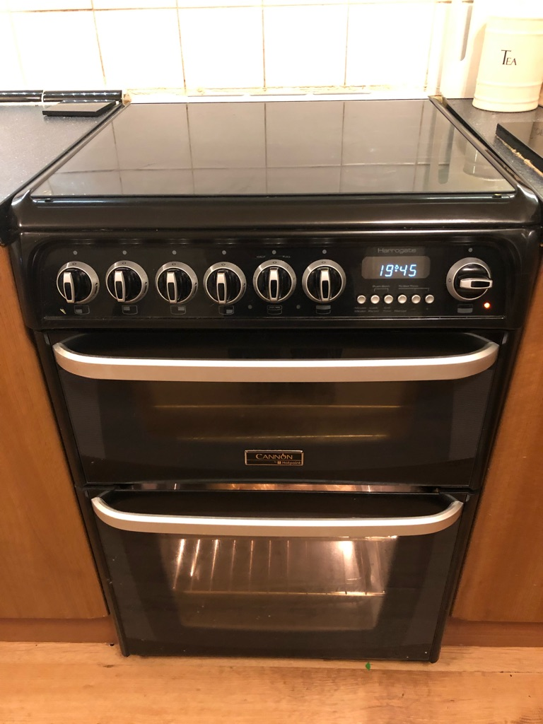 Cannon gas cooker electric oven