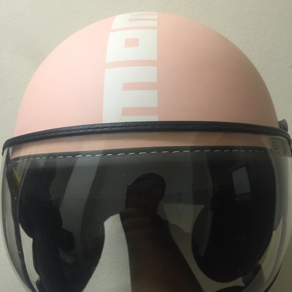 Momo pink helmet