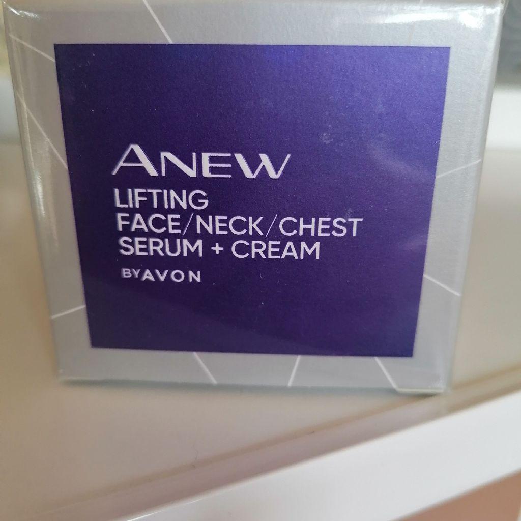 Avon lifting face/neck/chest serum + cream