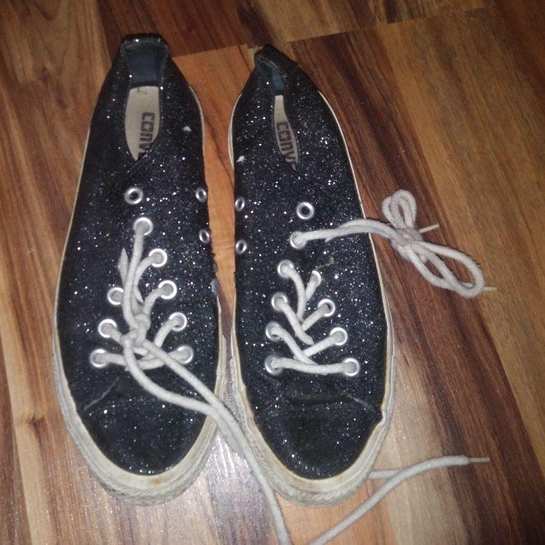 Black shimmer converse all star