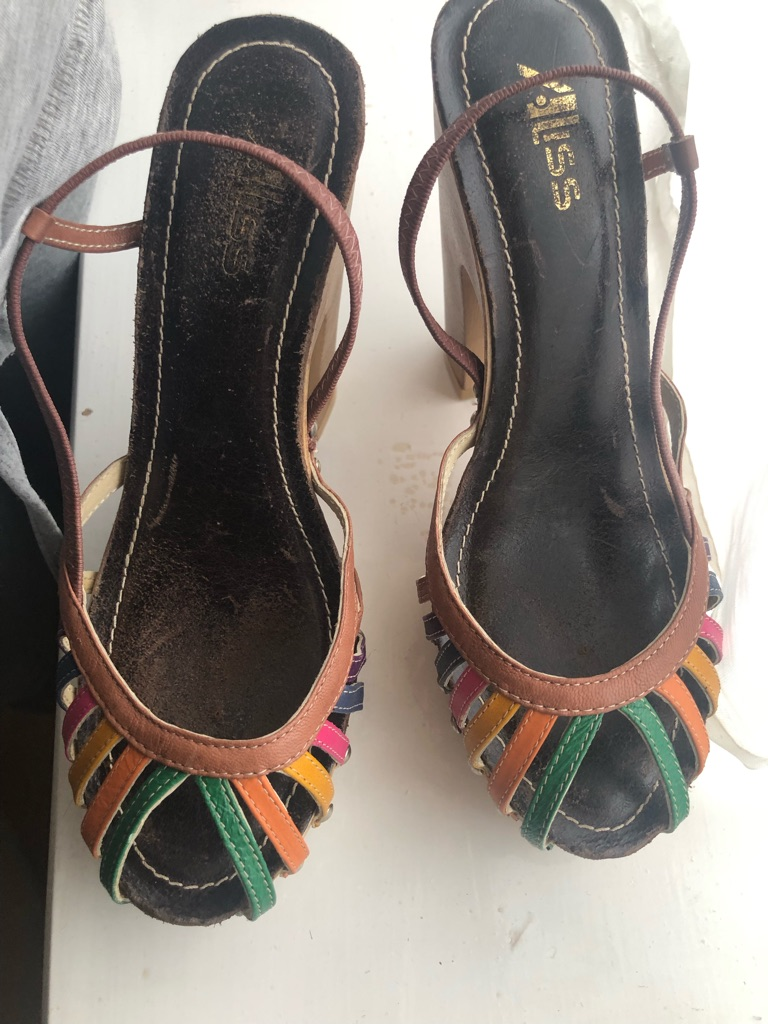Colourful sandals size 4