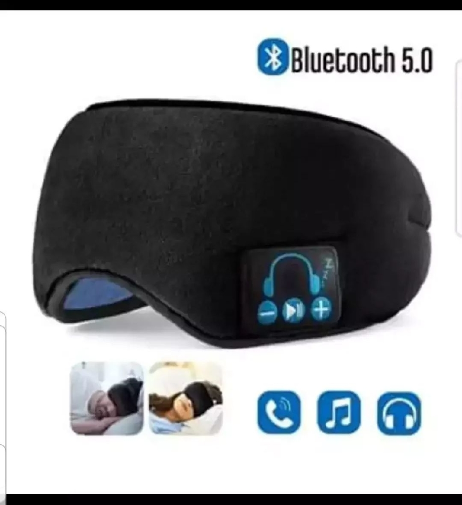 Upgraded Sleep Eye Mask Bluetooth 5.0, Wireless Sleep Headphones - Black / Grey / Leopard Print