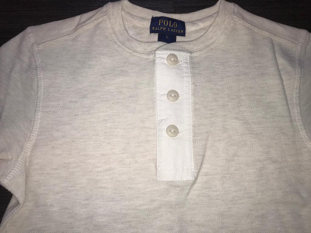 RALPH LAUREN HENLEY Lovely Light Cream Long Sleeve Top Size 6 NWT $35