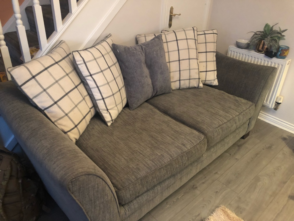 Sterling furniture 3 seater sofa and loveseat in grey