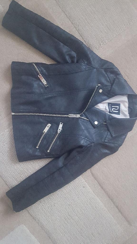 River island black biker jacket