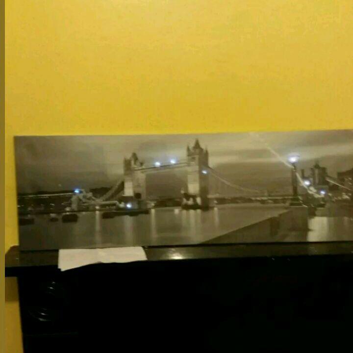 light up london bridge canvas