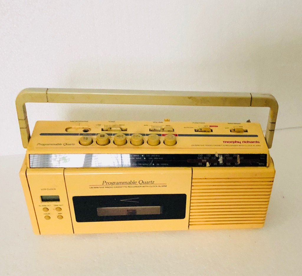 Radio Alarm Tape Recorder Vintage look