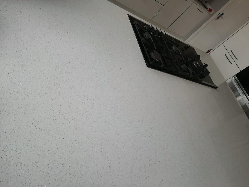 White Starlight Quartz Worktop