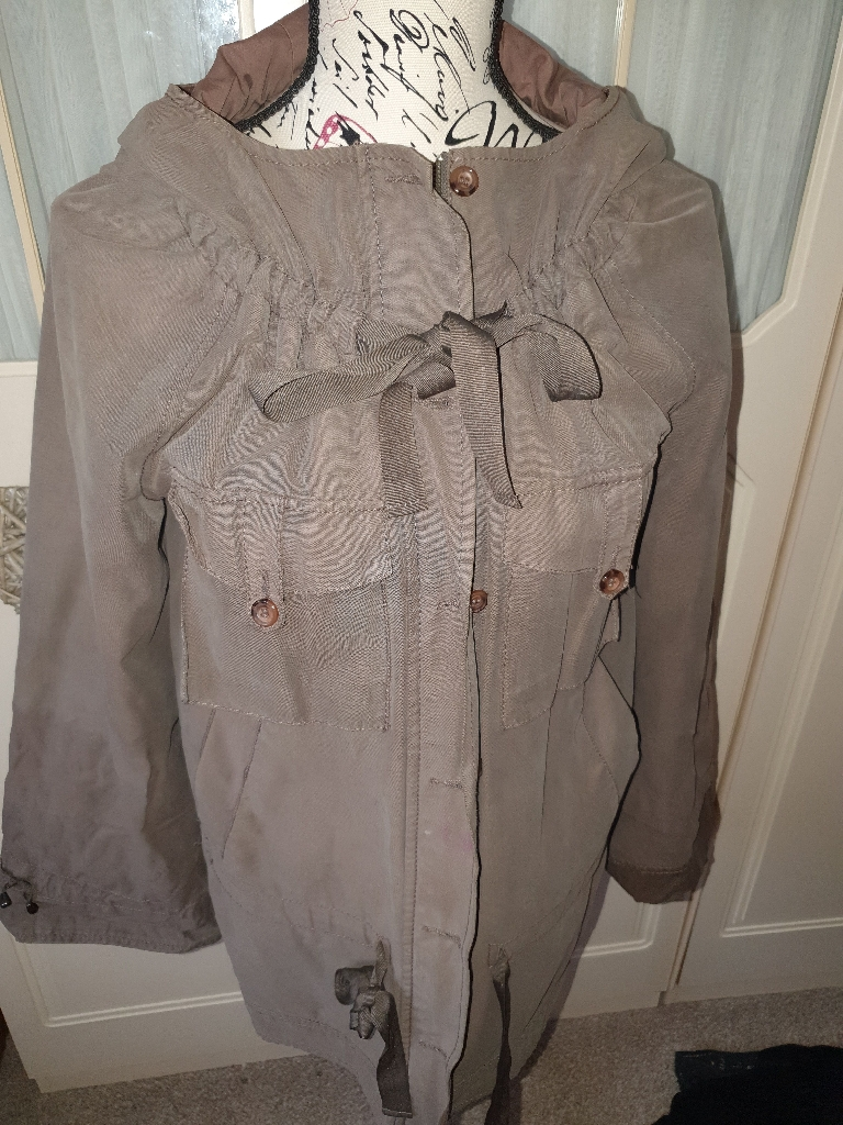 French Connection khaki parka size 8