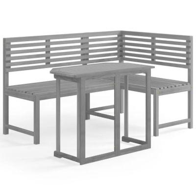 2 PIECE BISTRO SET SOLD ACACIA WOOD GREY