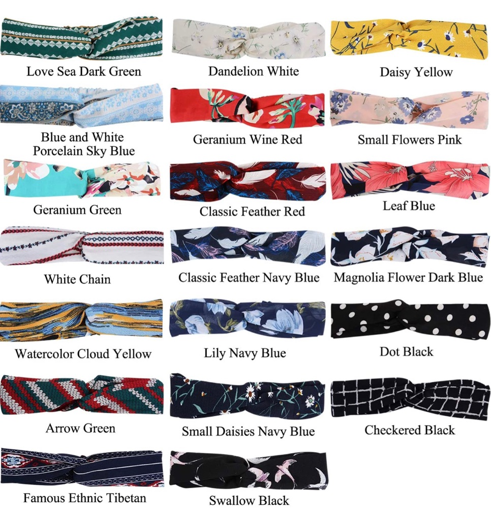 20 Pcs Boho Women Headbands