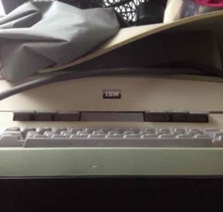 IBM Typewriter olive green