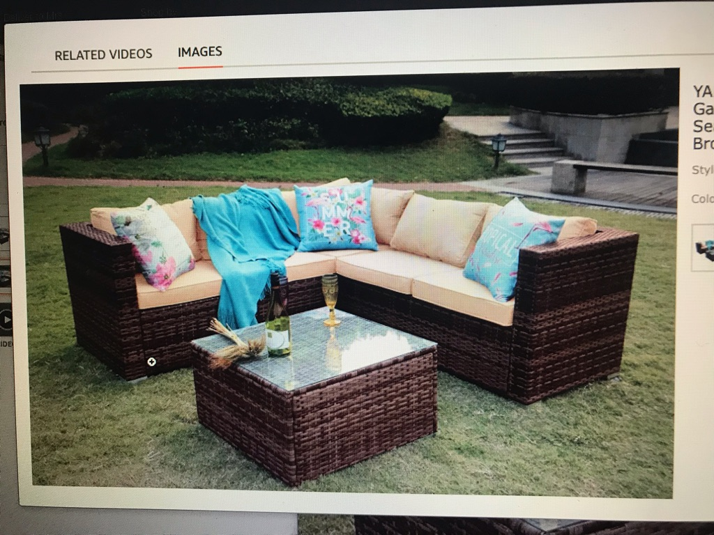 Brand new  5 seater garden sofa set