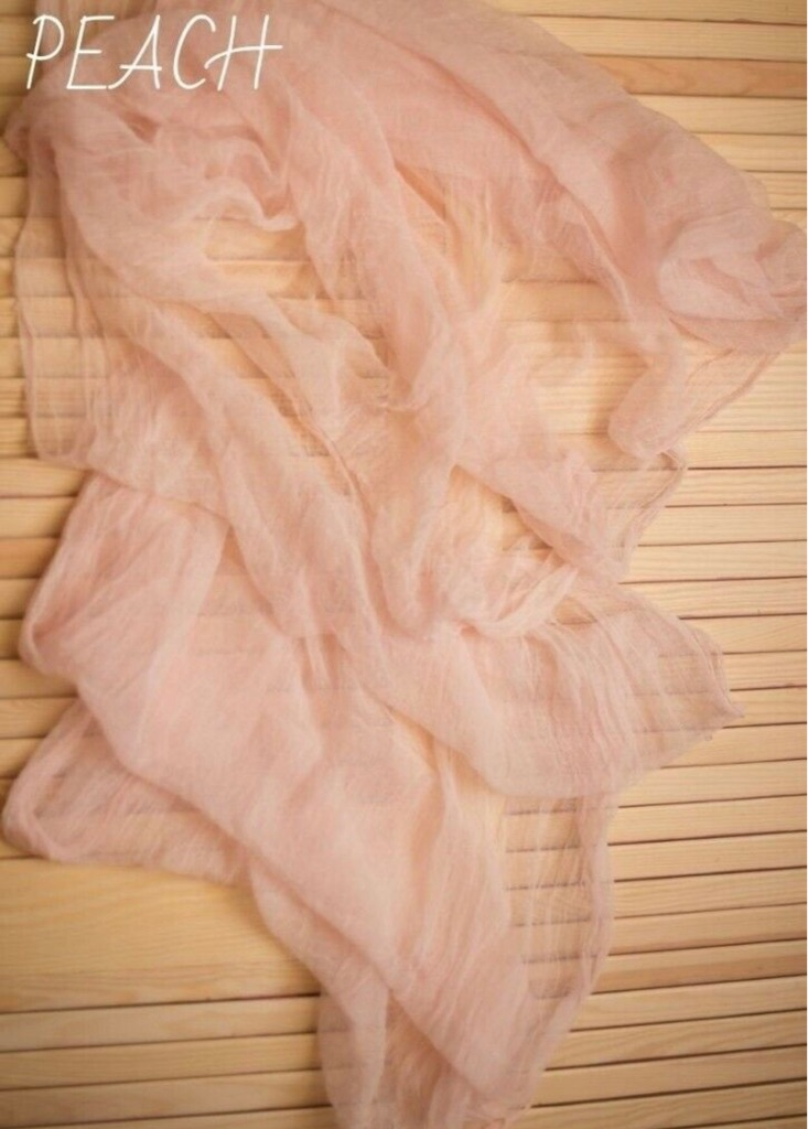 15 peach boho wedding table runners - cotton gauze, 45 inches