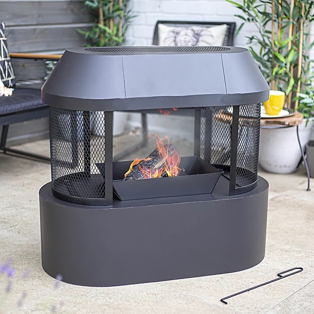 La Hacienda Steel Fireplace Brand New