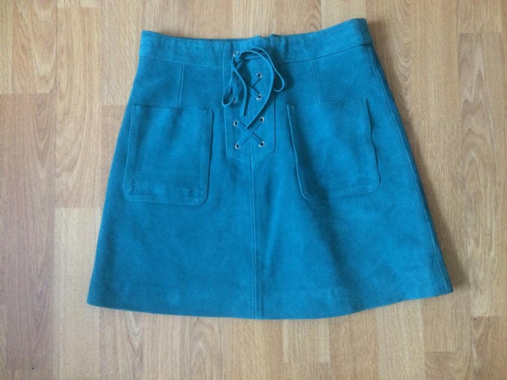 Short suede skirt Top Shop size 6