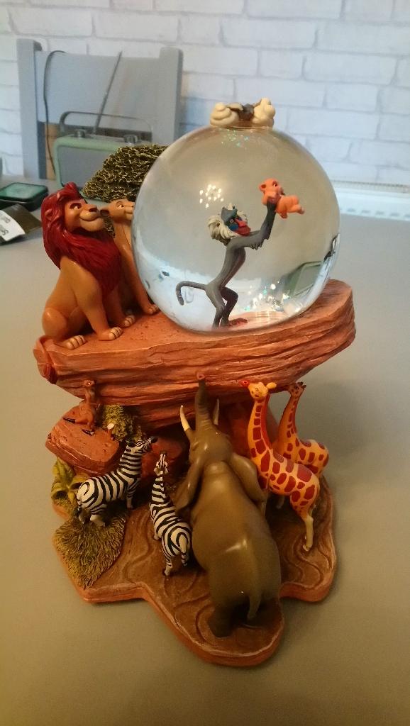 Disney lion king musical snow globe