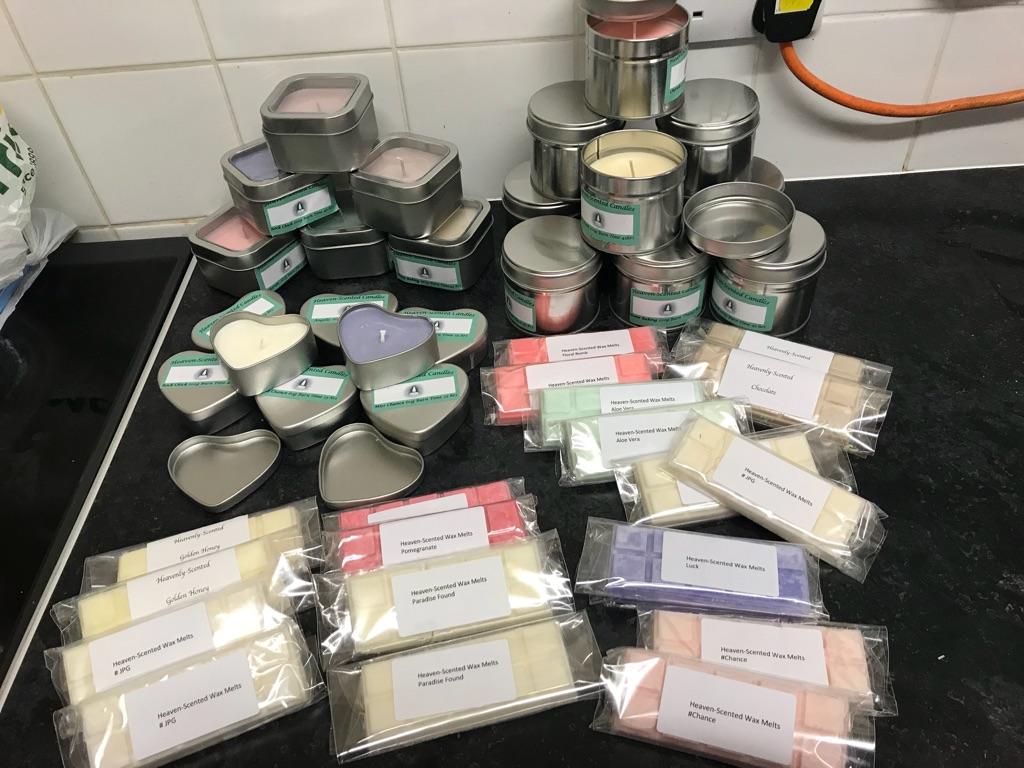 Candle and wax melts job Lot