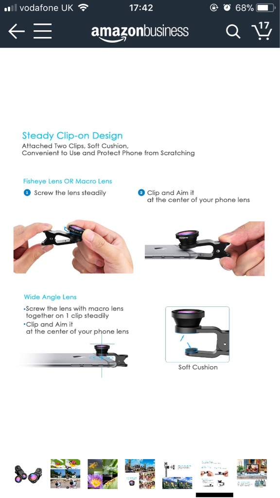 Clip on iPhone camera lens