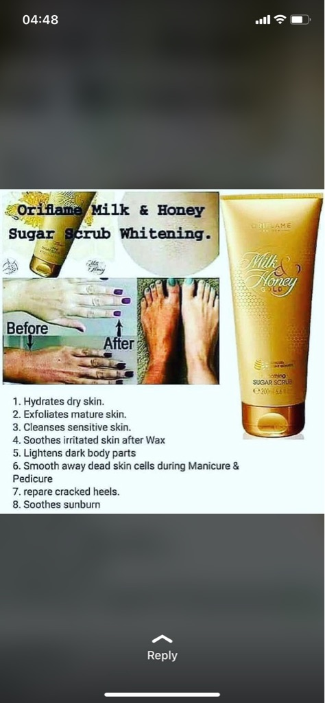 Milk&honey sugar scrub