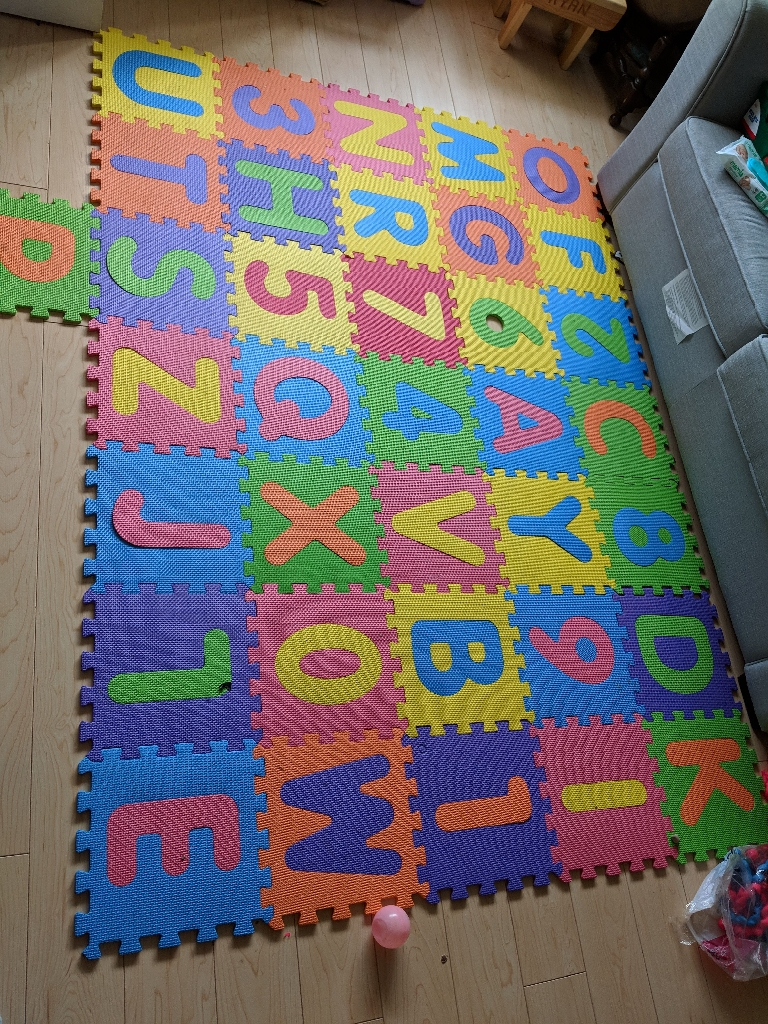 Alphabet and numbers playmat